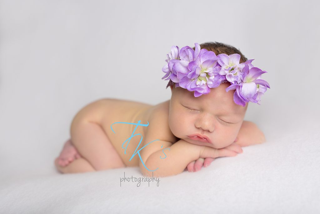 TK's Photography newborn baby girl purple flower crown