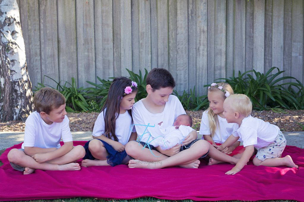 six children newborn photographer Launceston